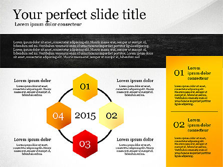 Presentation Template with Geometric Charts, Slide 3, 02656, Presentation Templates — PoweredTemplate.com