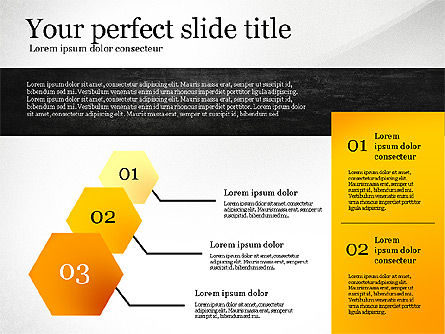 Presentation Template with Geometric Charts, Slide 4, 02656, Presentation Templates — PoweredTemplate.com