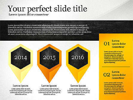 Presentation Template with Geometric Charts, Slide 5, 02656, Presentation Templates — PoweredTemplate.com