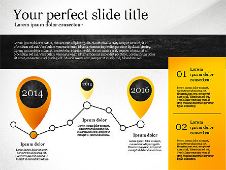 Presentation Template with Geometric Charts, Slide 6, 02656, Presentation Templates — PoweredTemplate.com