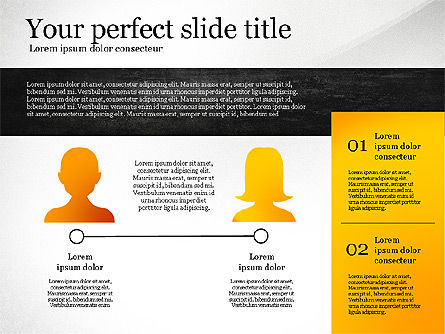 Presentation Template with Geometric Charts, Slide 8, 02656, Presentation Templates — PoweredTemplate.com
