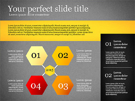 Presentation Template with Geometric Charts, Slide 9, 02656, Presentation Templates — PoweredTemplate.com