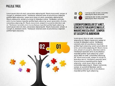 Puzzle Tree, Slide 2, 02657, Puzzle Diagrams — PoweredTemplate.com