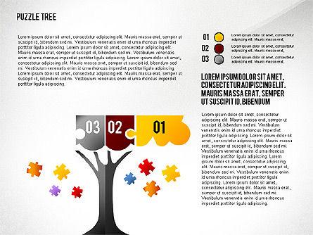 Puzzle Tree, Slide 3, 02657, Puzzle Diagrams — PoweredTemplate.com