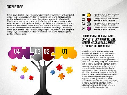 Puzzle Tree, Slide 4, 02657, Puzzle Diagrams — PoweredTemplate.com
