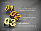 Presentation with 3D Numbers#10
