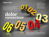 Presentation with 3D Numbers#12