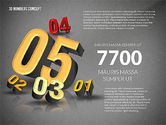 Presentation with 3D Numbers#14