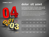 Presentation with 3D Numbers#15