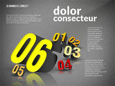 Presentation with 3D Numbers#16