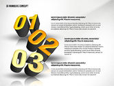 Presentation with 3D Numbers#2
