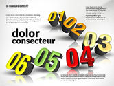 Presentation with 3D Numbers#4