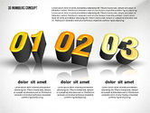 Presentation with 3D Numbers#5
