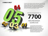 Presentation with 3D Numbers#6