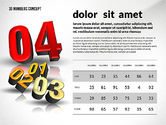 Presentation with 3D Numbers#7