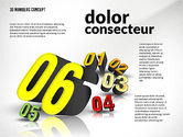 Presentation with 3D Numbers#8