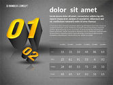 Presentation with 3D Numbers#9