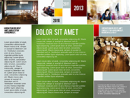 Education Modern Presentation Template, Slide 3, 02661, Education Charts and Diagrams — PoweredTemplate.com