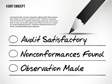 Audit Presentation Concept, 02665, Presentation Templates — PoweredTemplate.com