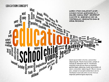 Education Word Cloud Presentation Concept, 02666, Education Charts and Diagrams — PoweredTemplate.com