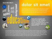 Education Word Cloud Presentation Concept#14