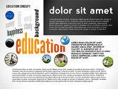 Education Word Cloud Presentation Concept#6
