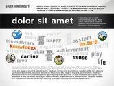 Education Word Cloud Presentation Concept#7