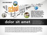 Education Word Cloud Presentation Concept#8