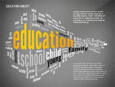 Education Word Cloud Presentation Concept#9