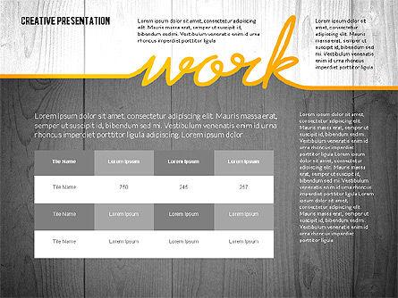 Creative Presentation Template, Slide 4, 02668, Presentation Templates — PoweredTemplate.com