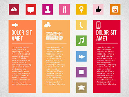 Flat Design Presentation Template with Icons, Slide 3, 02669, Icons — PoweredTemplate.com