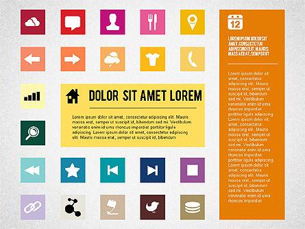 Flat Design Presentation Template with Icons, Slide 5, 02669, Icons — PoweredTemplate.com