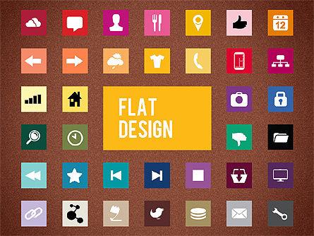 Flat Design Presentation Template with Icons, Slide 9, 02669, Icons — PoweredTemplate.com
