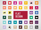 Icons: Flat Design Presentation Template with Icons #02669
