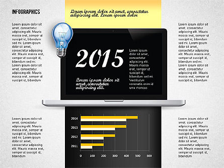 Infographics with Monitor, Slide 8, 02670, Stage Diagrams — PoweredTemplate.com
