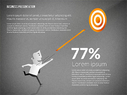 Presentation with Businessman Character, Slide 10, 02671, Presentation Templates — PoweredTemplate.com