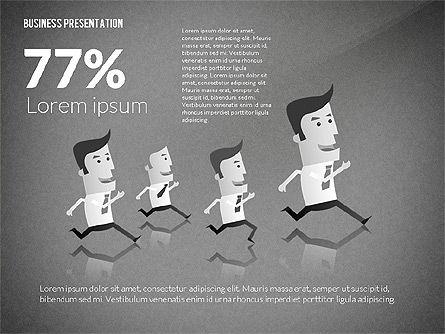 Presentation with Businessman Character, Slide 11, 02671, Presentation Templates — PoweredTemplate.com