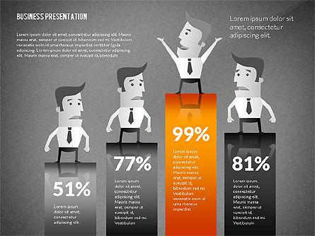 Presentation with Businessman Character, Slide 12, 02671, Presentation Templates — PoweredTemplate.com