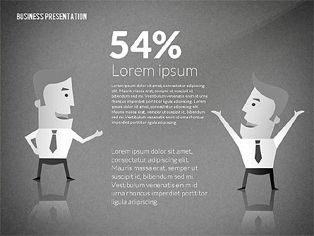 Presentation with Businessman Character, Slide 13, 02671, Presentation Templates — PoweredTemplate.com