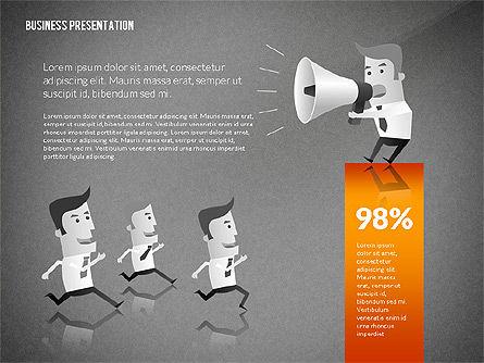 Presentation with Businessman Character, Slide 14, 02671, Presentation Templates — PoweredTemplate.com