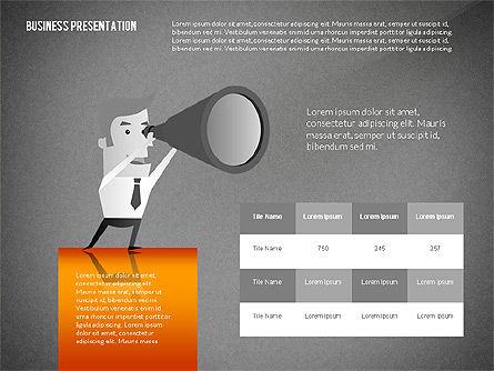Presentation with Businessman Character, Slide 16, 02671, Presentation Templates — PoweredTemplate.com