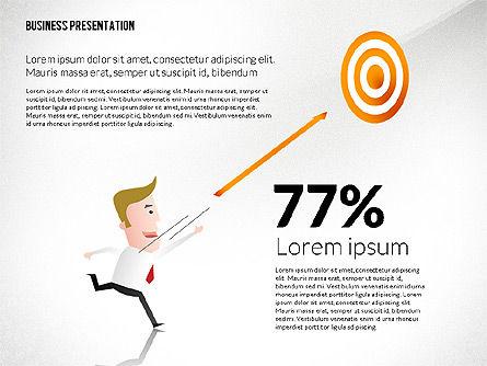 Presentation with Businessman Character, Slide 2, 02671, Presentation Templates — PoweredTemplate.com