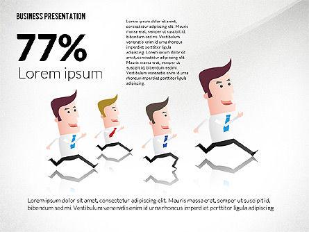 Presentation with Businessman Character, Slide 3, 02671, Presentation Templates — PoweredTemplate.com