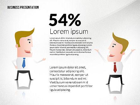 Presentation with Businessman Character, Slide 5, 02671, Presentation Templates — PoweredTemplate.com