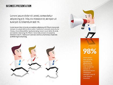 Presentation with Businessman Character, Slide 6, 02671, Presentation Templates — PoweredTemplate.com