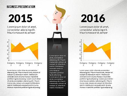 Presentation with Businessman Character, Slide 7, 02671, Presentation Templates — PoweredTemplate.com