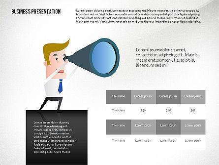Presentation with Businessman Character, Slide 8, 02671, Presentation Templates — PoweredTemplate.com