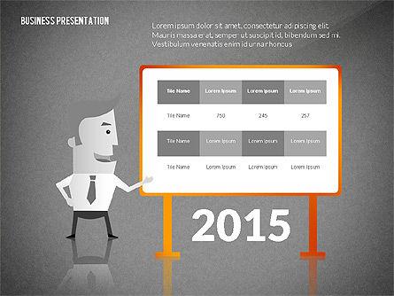 Presentation with Businessman Character, Slide 9, 02671, Presentation Templates — PoweredTemplate.com