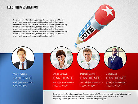 Election Presentation Template, 02676, Presentation Templates — PoweredTemplate.com