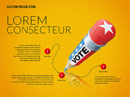 Election Presentation Template, Slide 10, 02676, Presentation Templates — PoweredTemplate.com